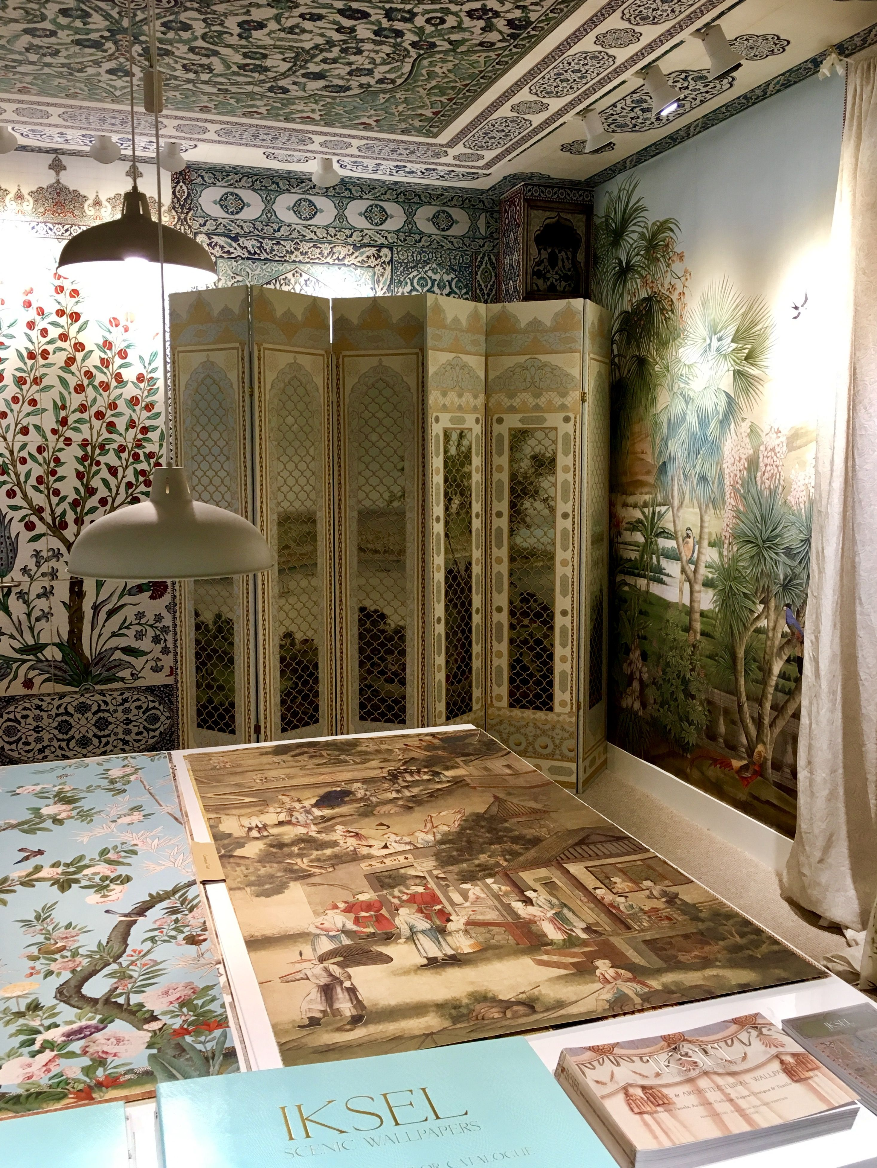 Iksel Decorative Arts Showroom in Chelsea Harbour Design Centre Scenic Wallpaper, Home Wallpaper, Wall