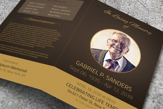 funeral program template for word by fancydesignslab on