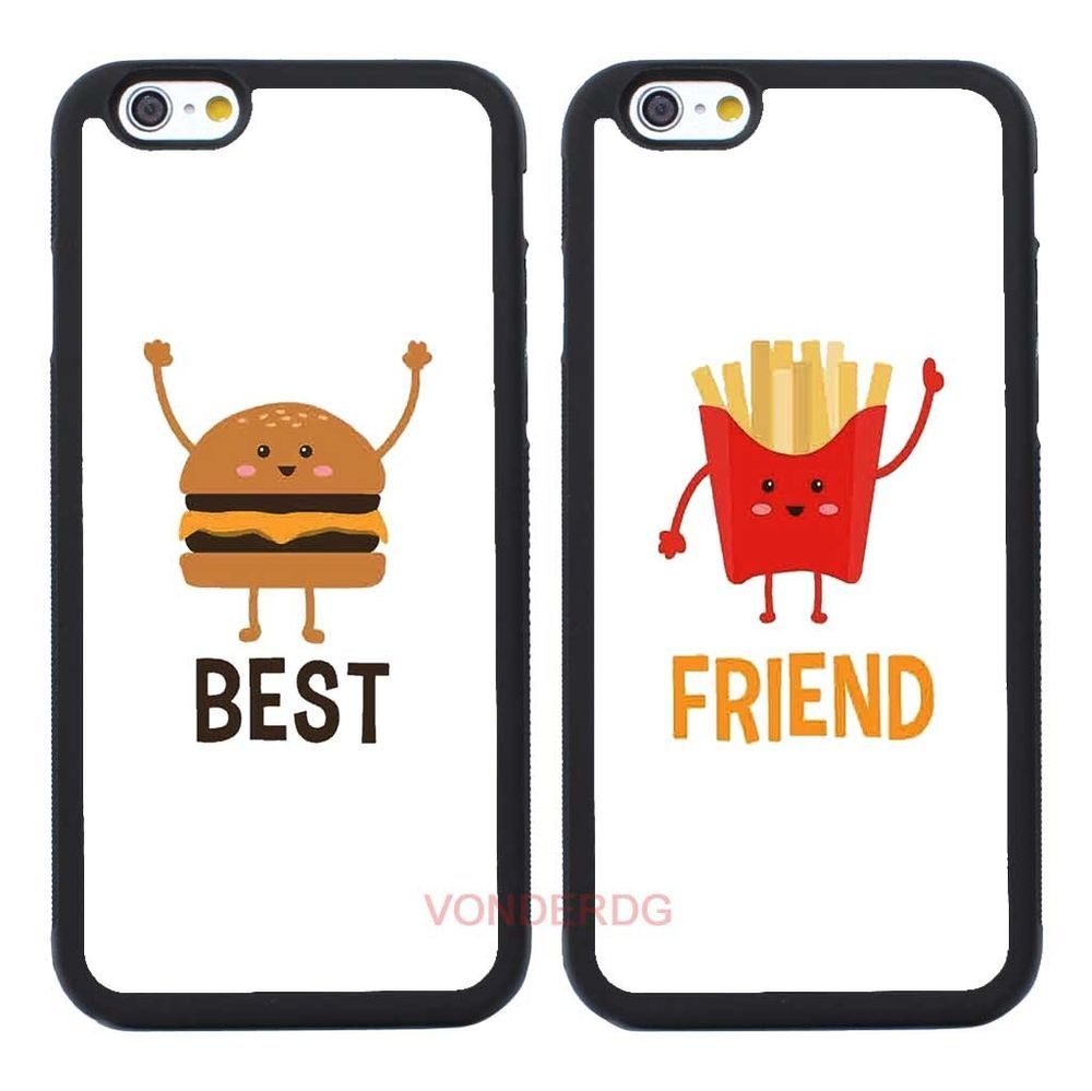 best friend iphone cases 2pcs burger and fries best friend cover for iphone 7 9118