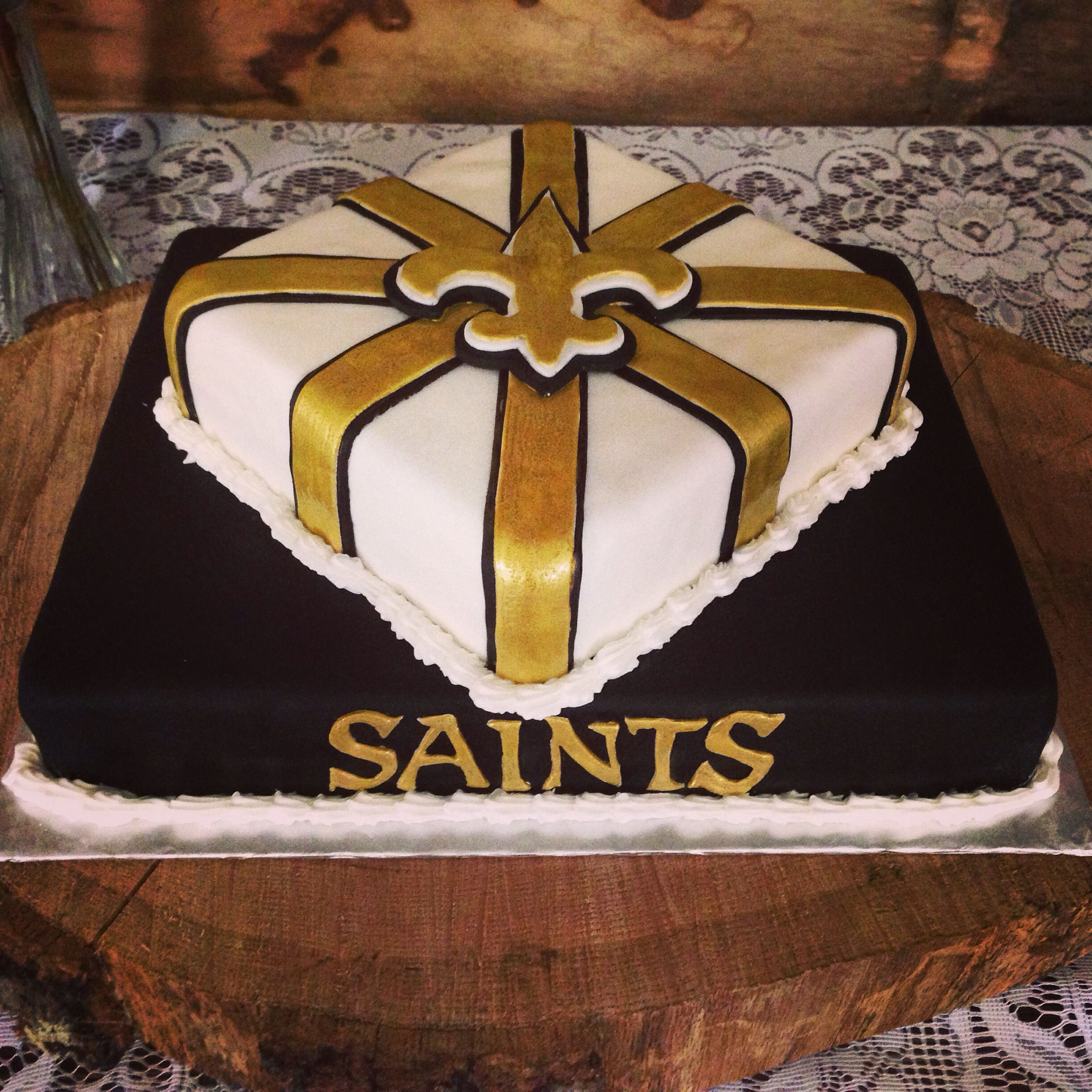 New Orleans Saints Cake My Cakes And Cupcakes Pinterest Saints
