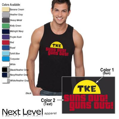 5c115275 Suns Out Guns Out Printed Fraternity Tank - Next Level 3633 - CAD ...