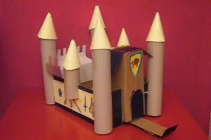 castle DIY roll paper castello di carta