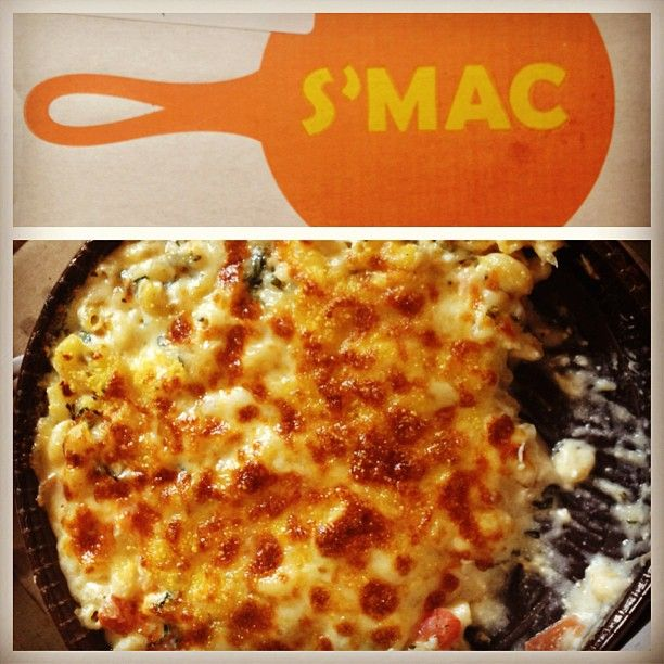 There are often group-on deals. All American, Cheeseburger, Alpine, Parisian, Cajun, 4 Cheese, Napolitan, La Mancha and more.  S'MAC in New York, NY Mac and cheese.