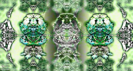 EL GUARDIAN DE LAS VIDAS  II.Collaboration Psydrack (USA) &Jordi Bofill-Cosmos Art (Spain).2013.