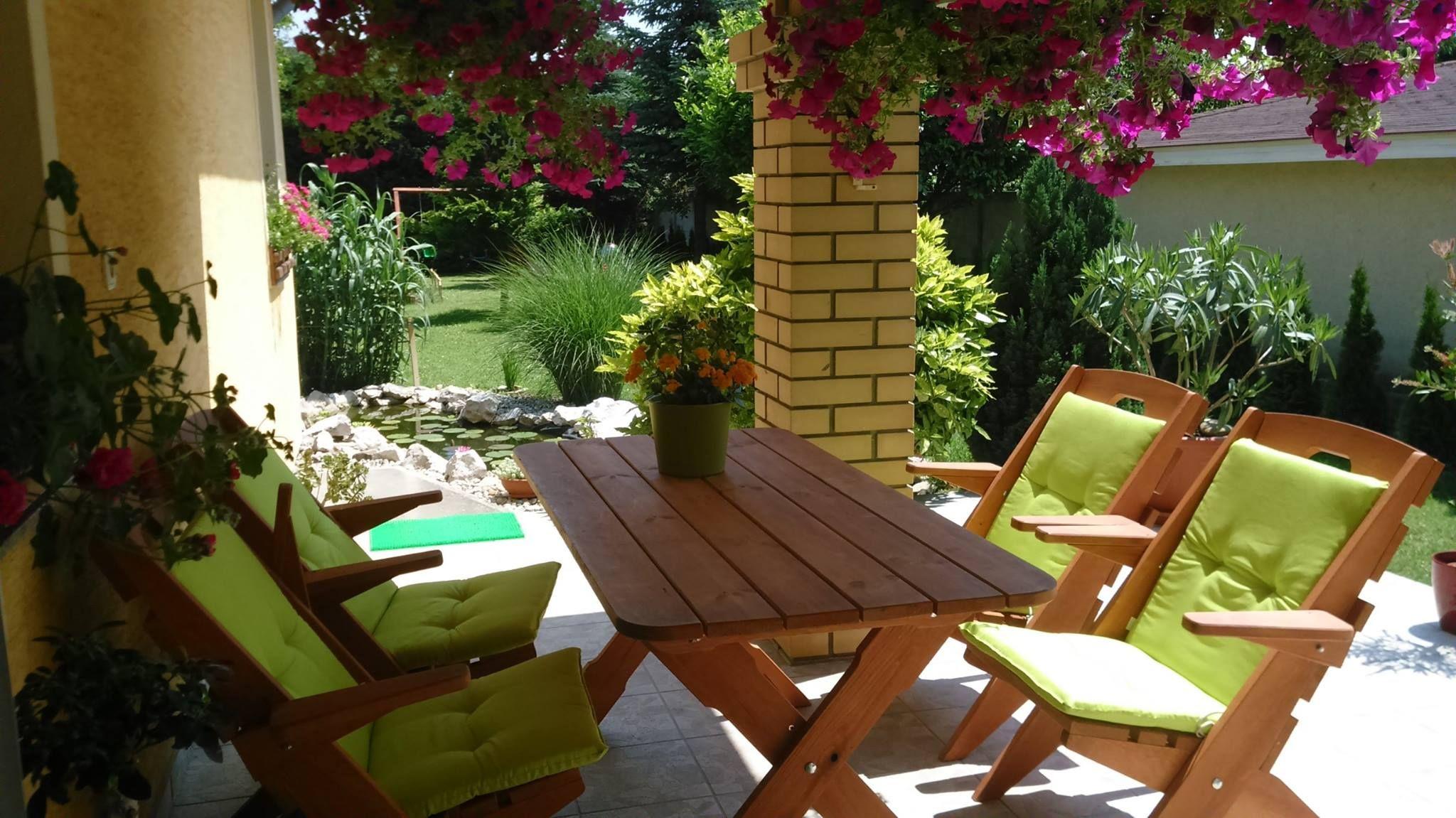 Niedriglehner Auflagen set - Gartenmöbel Holz - Farbe Havana Green ...