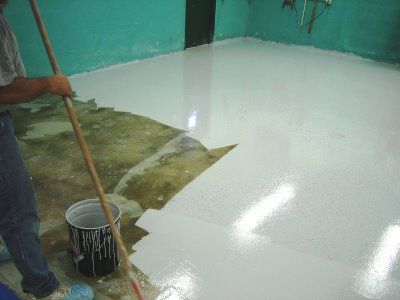 Concrete Floors Residential White Epoxy Flooring For Garage Colored Coatings