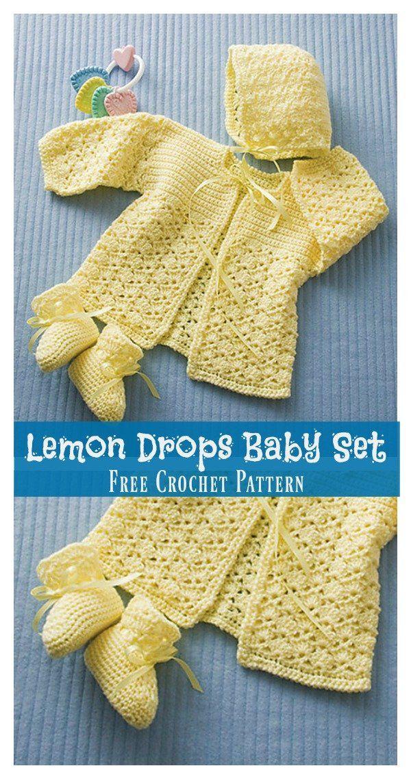 Lemon Drops Baby Set Free Crochet Pattern Lemon Dr