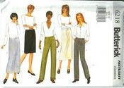 Butterick 6218 Skirt Pants Pattern UNCUT [6218] - $7.50 : The Vintage Cache