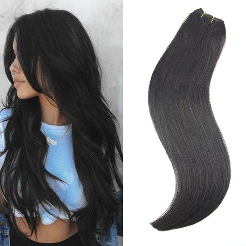 One Piece Clip In Real Human Hair Extensions 50g With 5 Clips