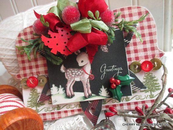 sale sale sale vintage christmas ornament by cherrysjubileecards - christmas decorations sale
