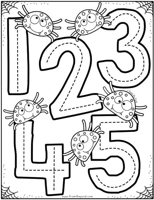 Numbers To Five Coloring Club From The Pond Dibujos Para Preescolar Materiales Para Preescolar Actividades Motoras Finas Para Ninos