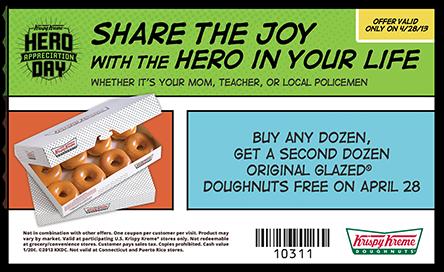 Krispy Kreme BOGO Dozen Doughnuts April 28, 2013