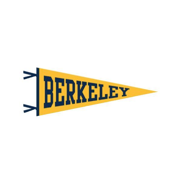 Cal Berkeley Pennant | golden bear | Cal university, Berkeley