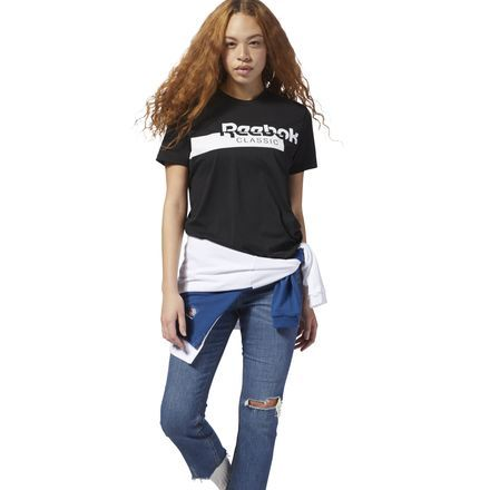 49d91b6bca Classics Long Tee | Products | Black reebok, Long tee, Reebok
