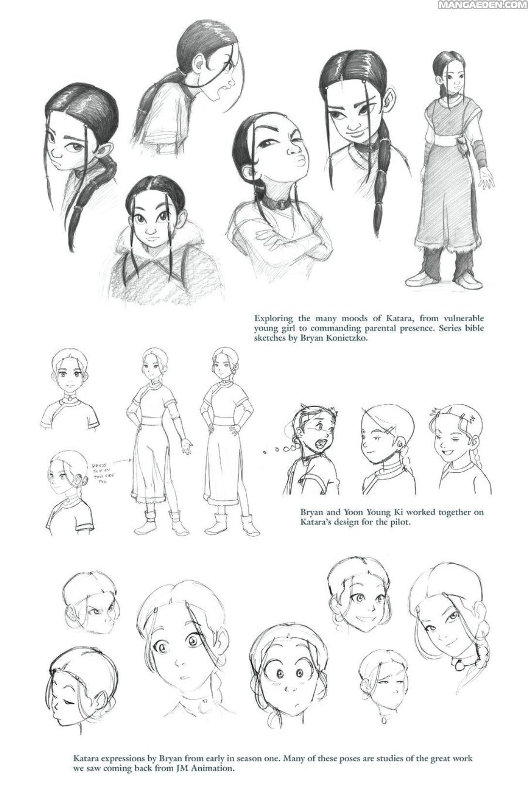 Katara expressions by bryan from early season one manga avatar the last airbender the lost adventures chapter 30 page 2