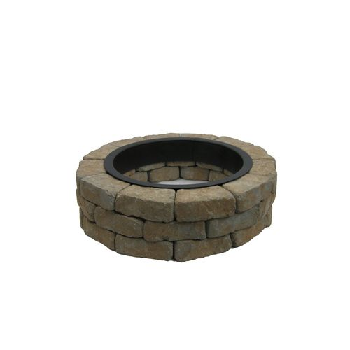 Lowes Allen Roth Tan Gray Flagstone Firepit Patio Block