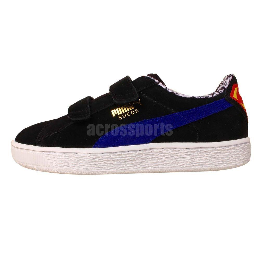 e9e80a339e8d Puma Suede Superman V Kids Black Purple Velcro 2015 Youth Kids Casual Shoes  http