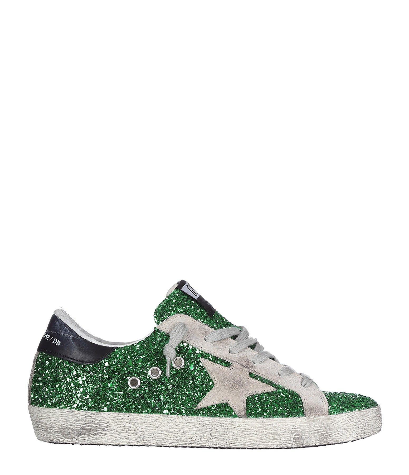 bec265c994 Sneakers Superstar Emerald Green Glitter - GOLDEN GOOSE | Sneakers ...