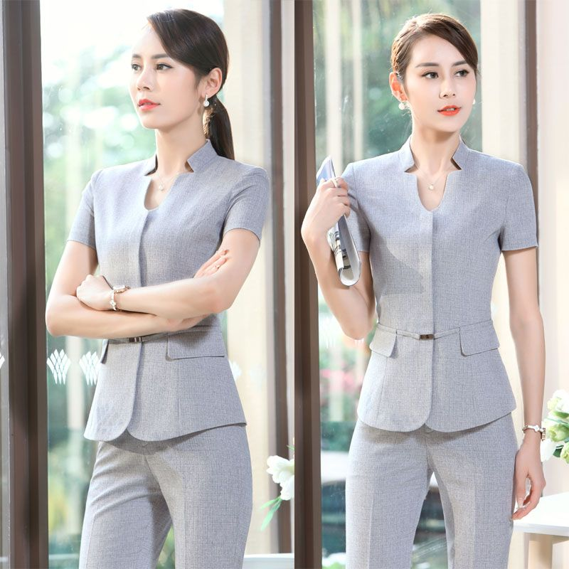 Find More Pant Suits Information About New Summer Short Sleeve Striped Formal Uniform Design Female Pan Uniform Design Office Uniform For Women Pants For Women