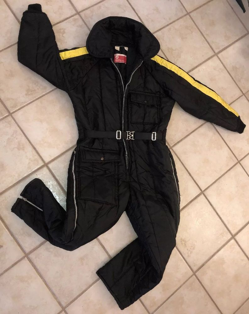Ski Doo Yellow Stripe JC Penney Snowmobile Suit…   Ski Doo