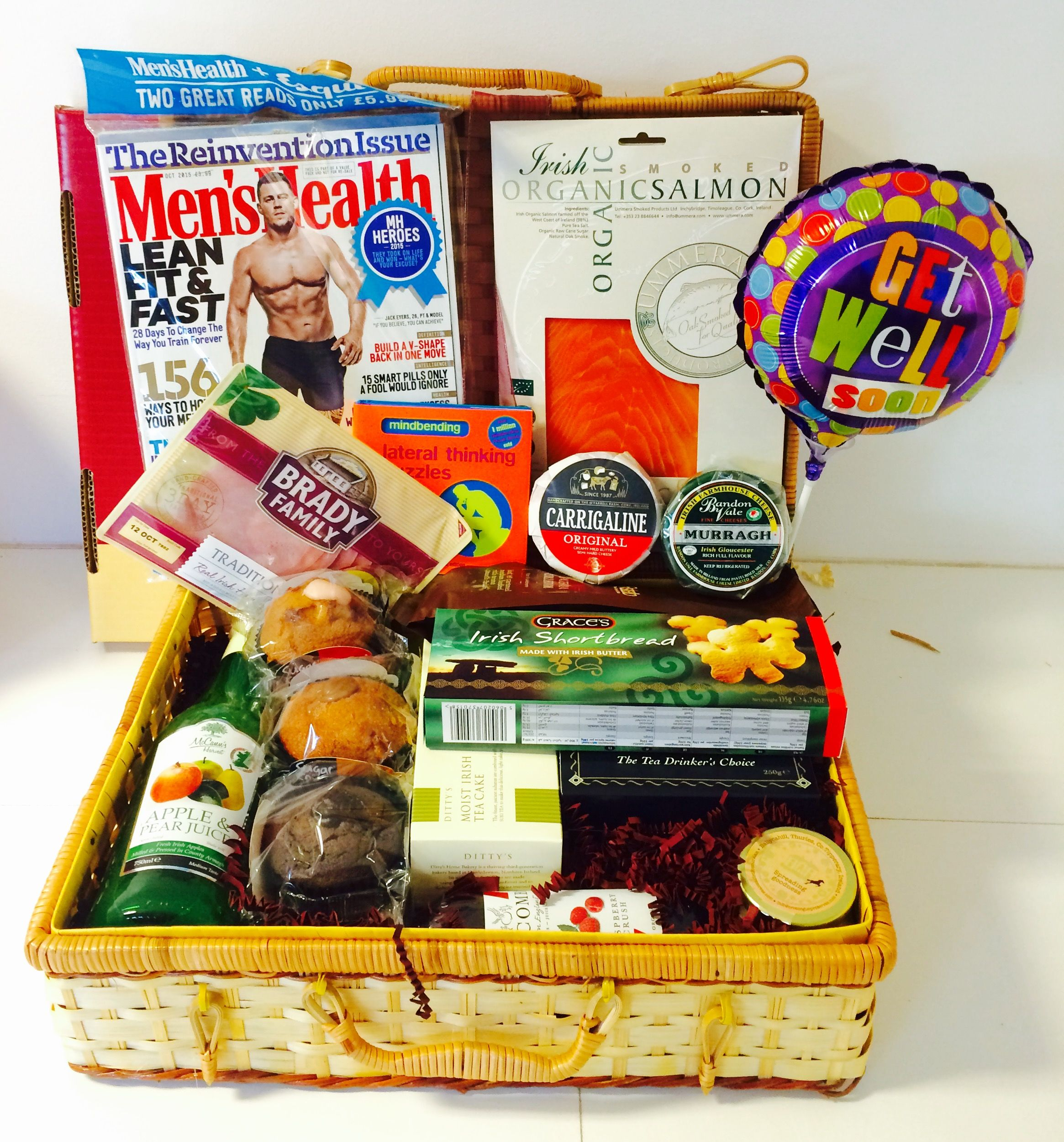 Our Brunch Basket With The Addition Of A Get Well Balloon Puzzle Book And Magazine Get Well Balloons Gift Hampers Gifts Delivered