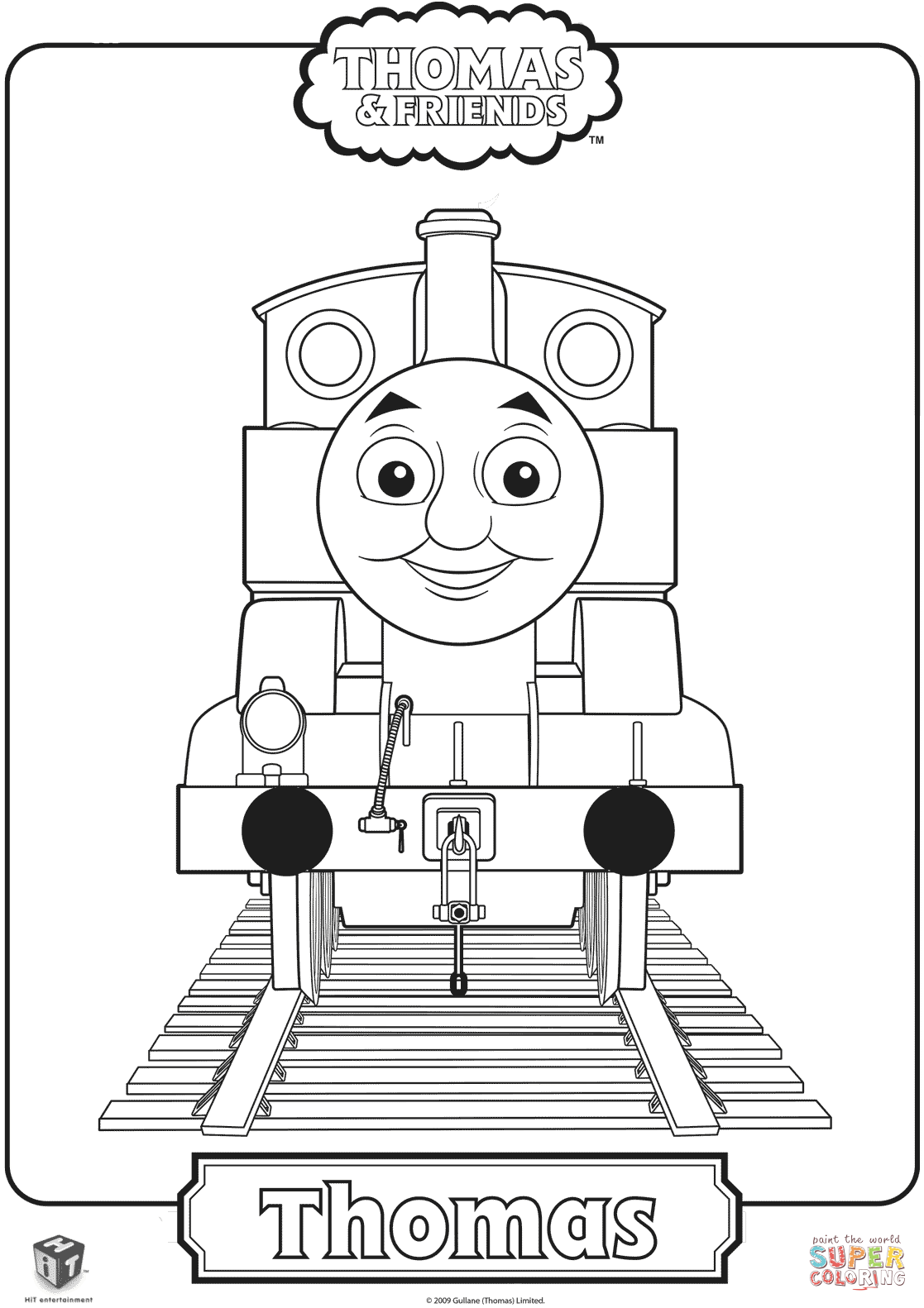 Thomas The Train Coloring Page Free Printable Coloring Pages Train Coloring Pages Birthday Coloring Pages Thomas The Train Birthday Party