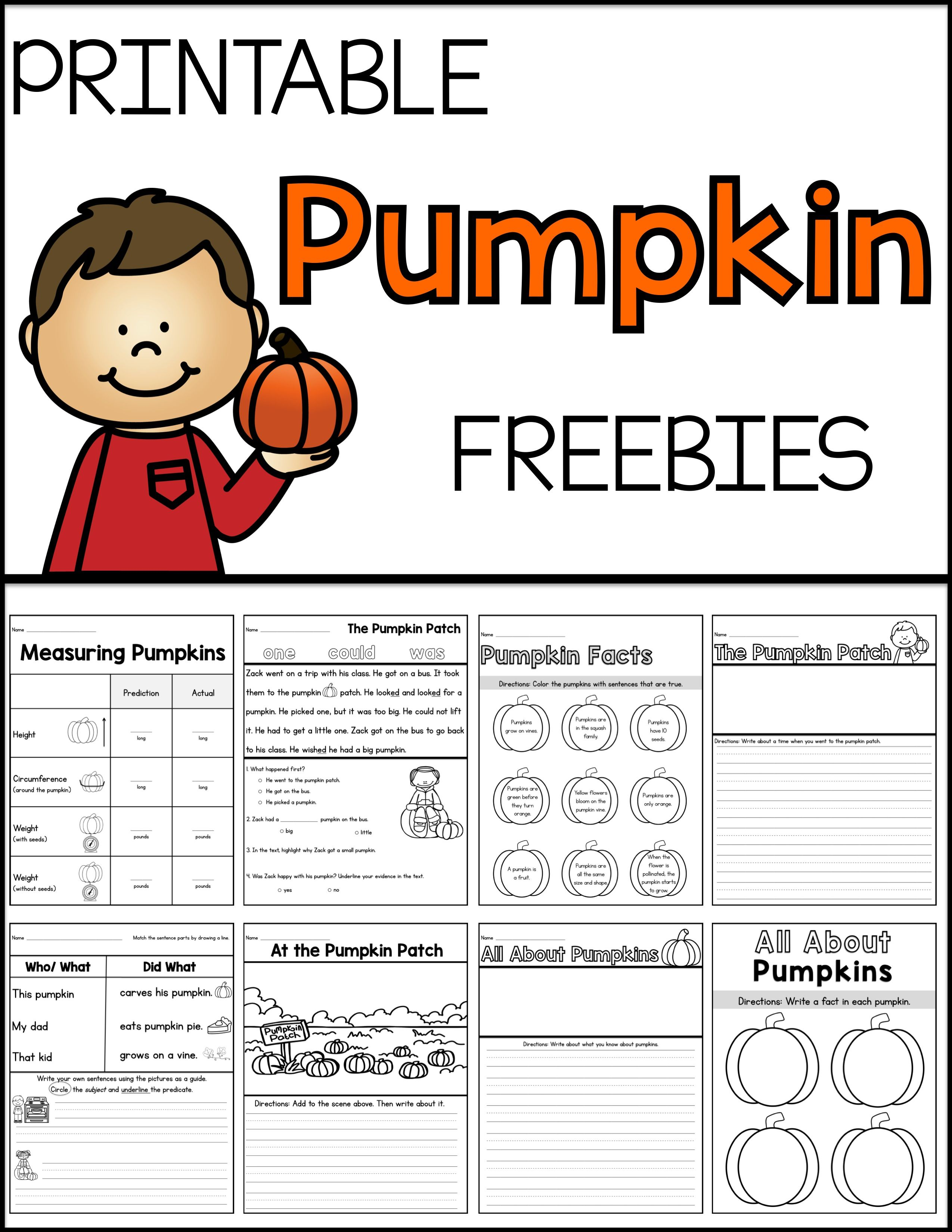 Pumpkin Freebies With Images