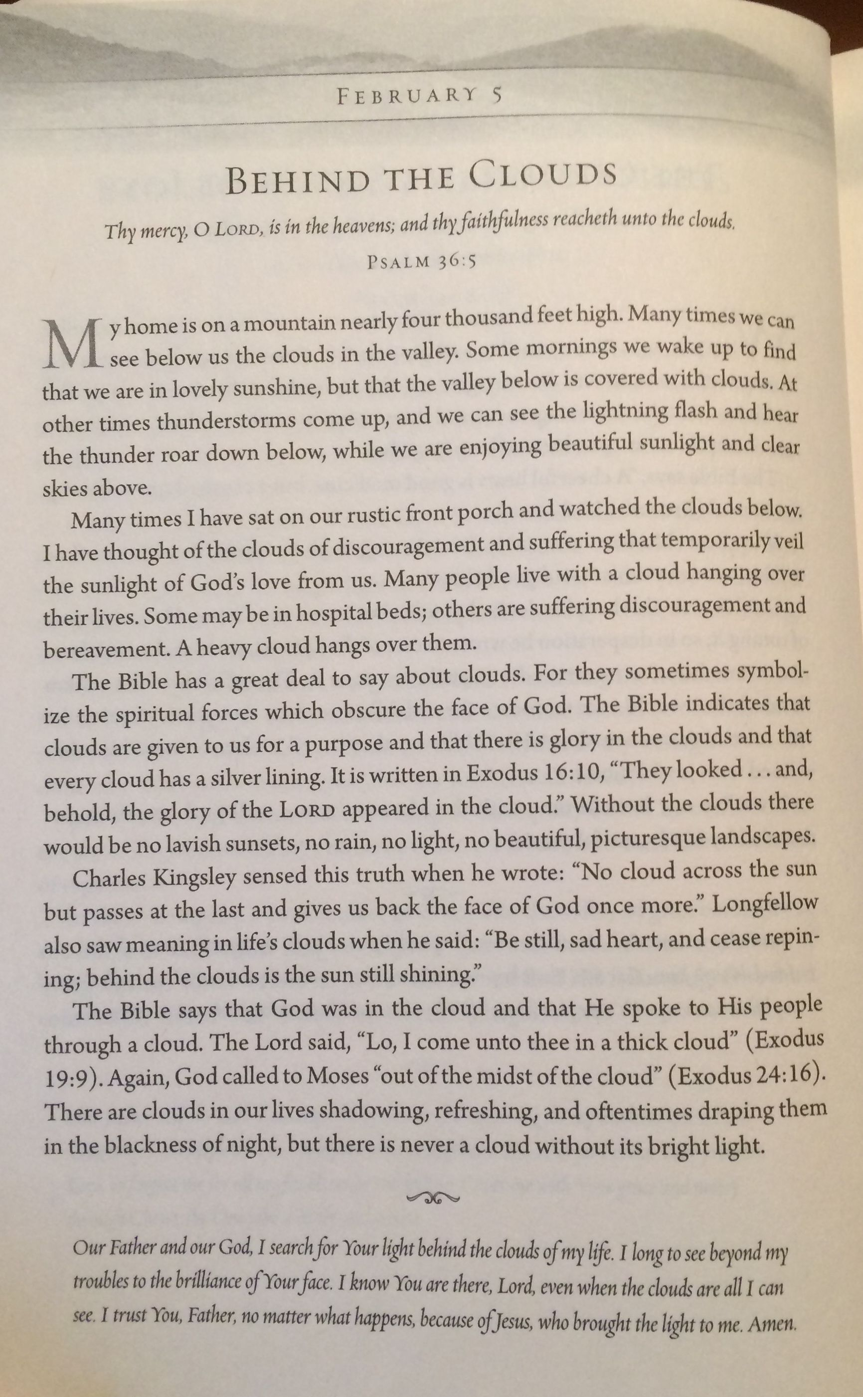 Taken From Unto The Hills A Daily Devotional Billy Graham Daily Devotional Psalms Psalm 36