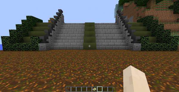Manoir Sakamaki sur Minecraft - Jardin, premier essaie non ...