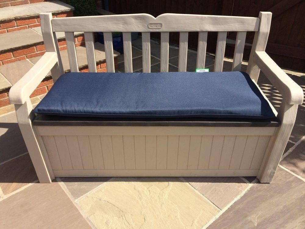 Pleasant Details About Keter Eden Plastic Garden Storage Bench Comes Machost Co Dining Chair Design Ideas Machostcouk