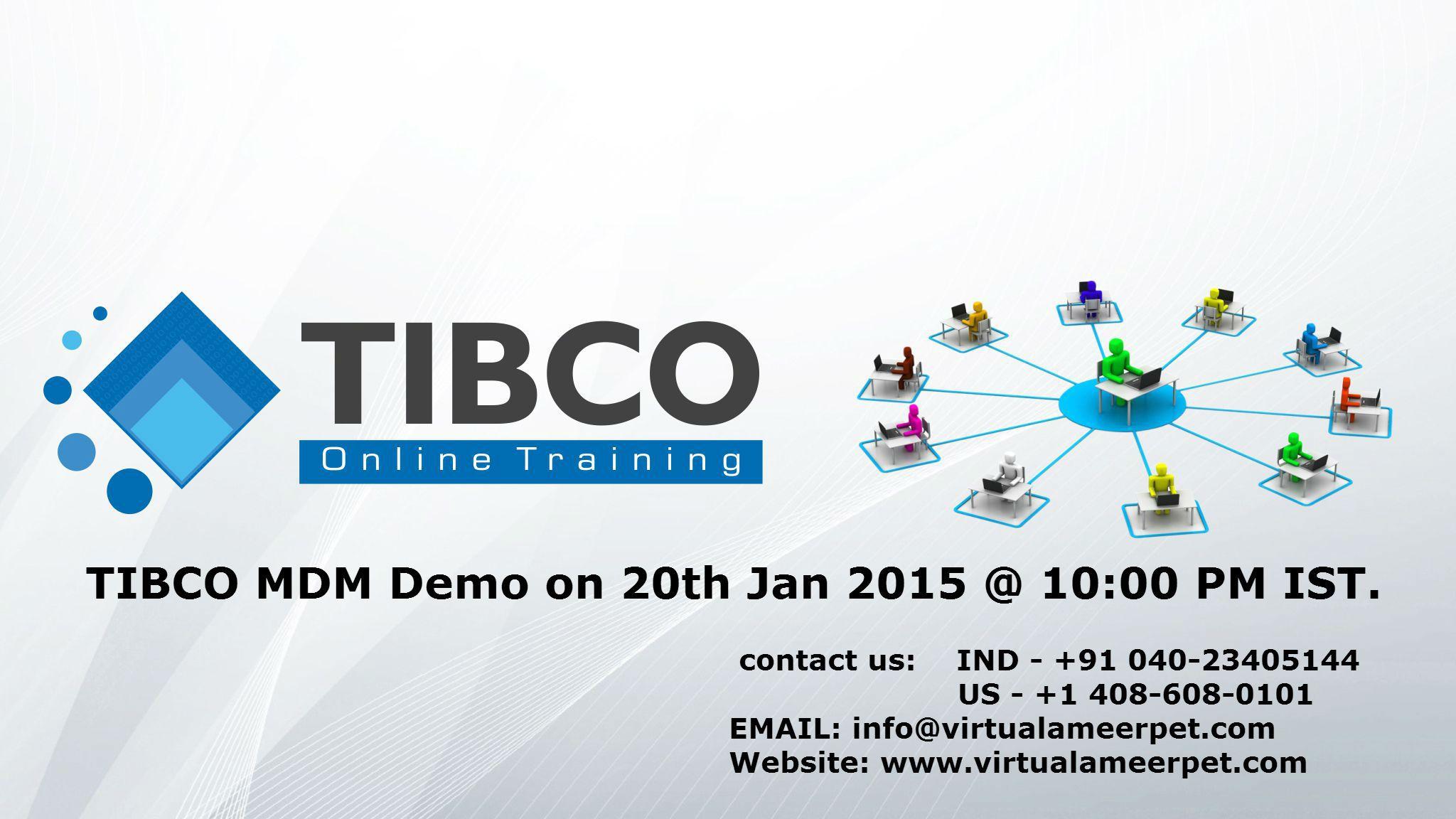 TIBCO MDM Demo on 20th Jan 2015 1000 PM IST. www