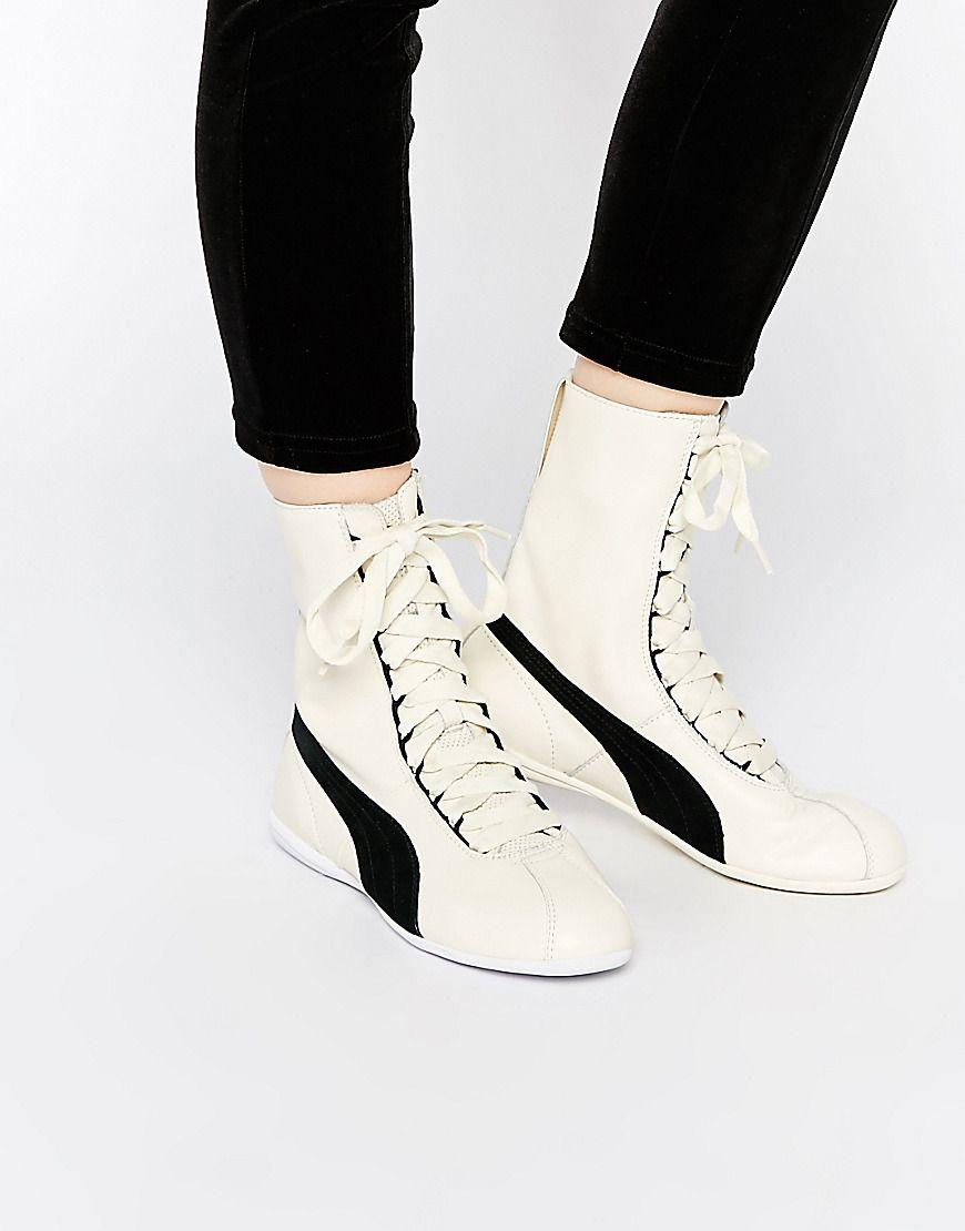 Puma Eskiva Hi White Sneakers  8d79bd7dd