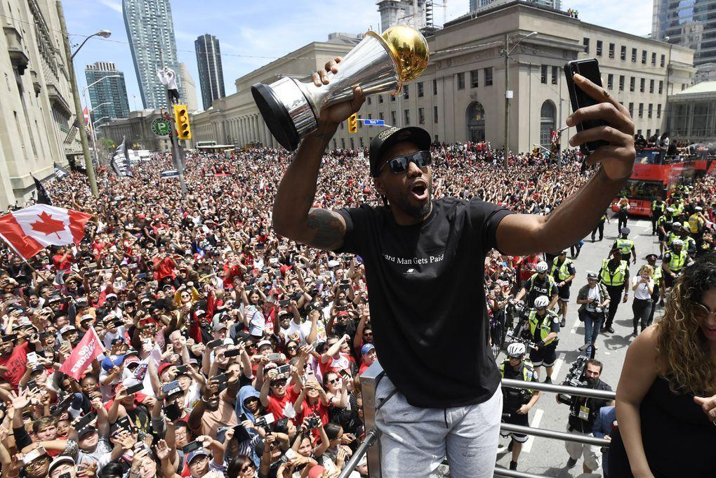 In Photos NBA Champion Toronto Raptors celebrate historic