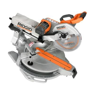 Ridgid 12 In Sliding Compound Miter Saw With Free Mobile Miter Saw Stand Ms1290lza Ac9945 The Home D Sliding Compound Miter Saw Miter Saw Compound Mitre Saw