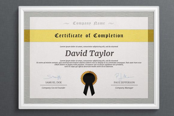 10 Great Looking Certificate Templates for All Occasions – Corporate Certificate Template