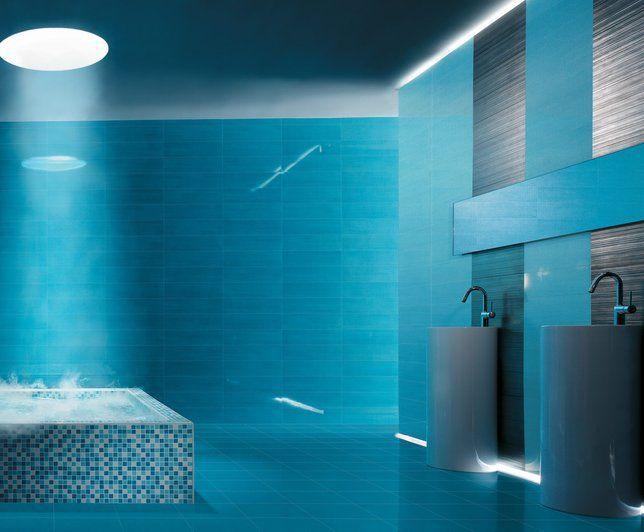 photo deco salle de bains bleu moderne visuels salle de bains - Decoration Salle De Bain Bleu