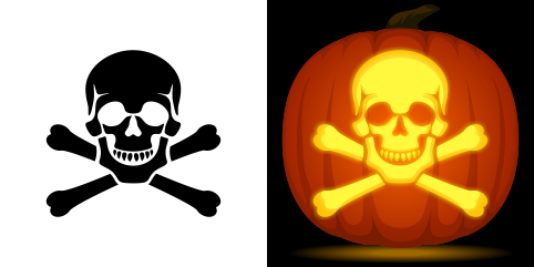 pumpkin template skull and crossbones  Pin by Muse Printables on Pumpkin Carving Stencils in 5 ...