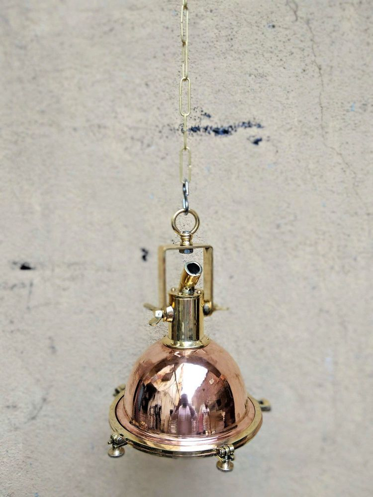 Nautical New Marine Brass And Copper Hanging Small Light With Hook Chain One Pcs Small Light Light Pendant Light