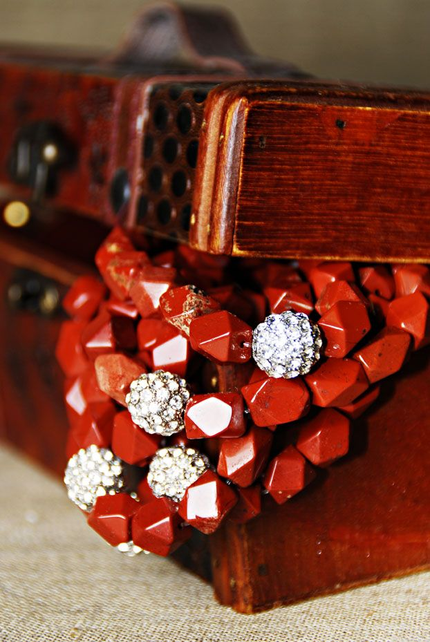 Red Jasper bracelets from RLT Collection Winter 2009!