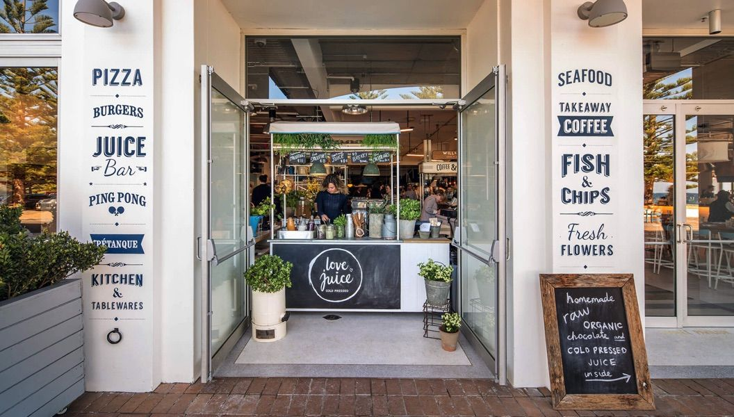 Coogee pavilion merivale small cafe design dining