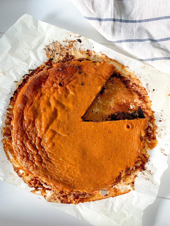 Recette tarte butternut sur sa pâte de dattes