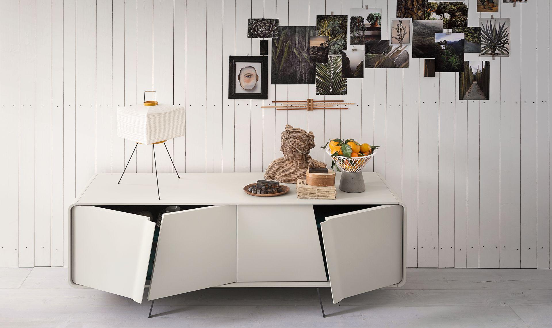 Musa commode credenza moderna bianca credenza design e for Mobili italiani design