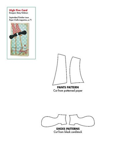 Free Clown Pants And Shoes Pattern Download Paper Crafts Magazine Card Patterns Scrapbook Templates