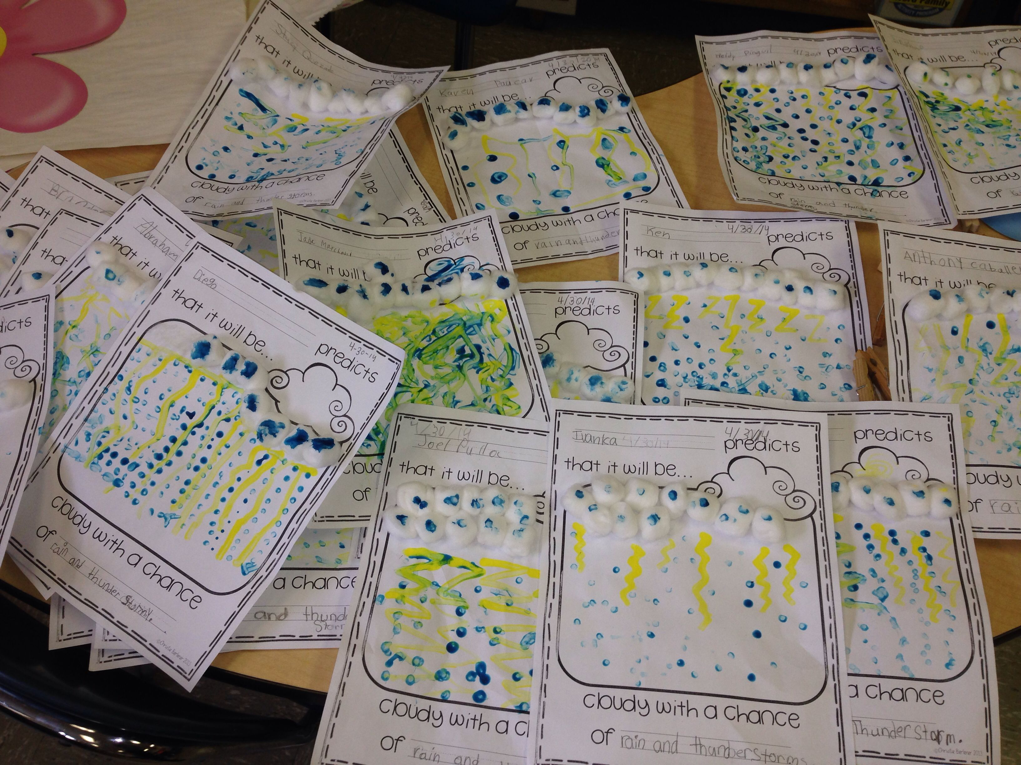 Check out how cute my first graders weather projects came out!