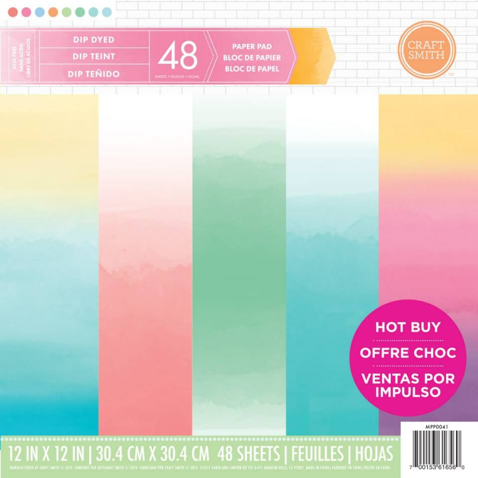 Scrapbook paper pads - New From Craft Smith Dip Dyed Printed Paper Pad Available Exclusively At