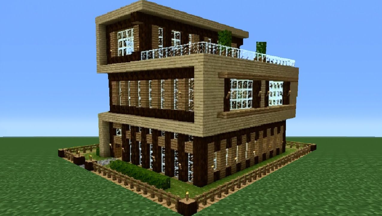Minecraft Modern House Tutorial (House Number