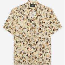 The Kooples - Bedrucktes lockeres Hemd mit kurzen Ärmeln - Damen