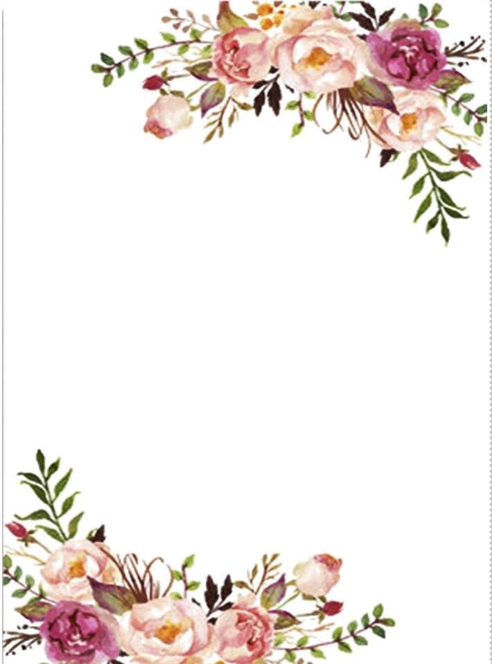Find Hd Free Pin By Marinda Wedding Floral Border Png Download It Free For Personal Use Floral Border Floral Watercolor Border Paper Printable