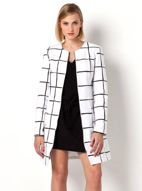 Moda abrigos blancos