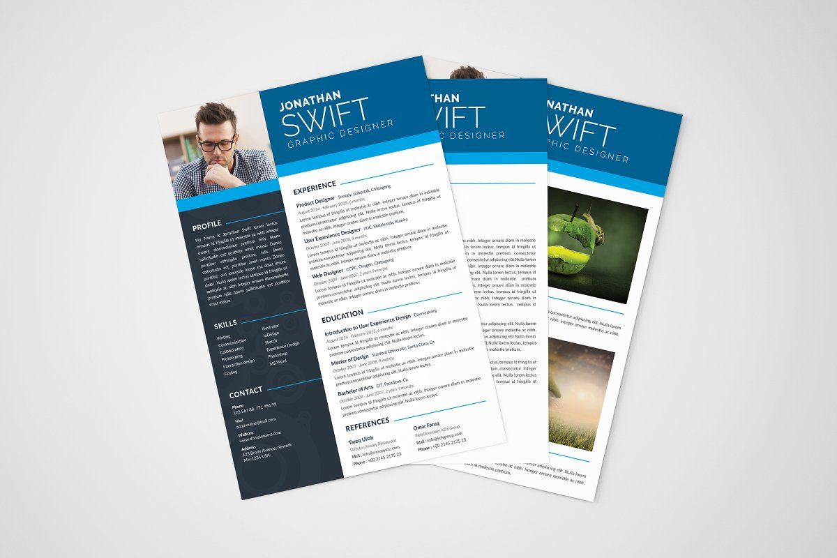 Cv Resume Template 3 Pages Cv Resume Template Resume Template Resume Design Template